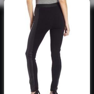 BCBG Black Leather Like Leggings